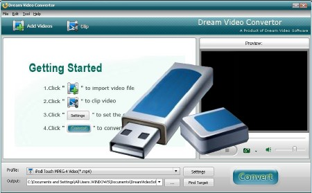 Dream Video Converter Ultimate 4.5.8.0 (ENG) 2012 Portable