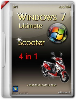 Windows 7 Ultimate SP1 v 7601.17514.101119-1850 Scooter x86/x64 ENG/RUS