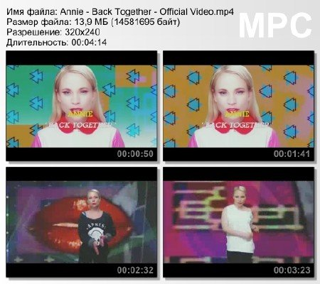 Annie - Back Together - Official Video mp4